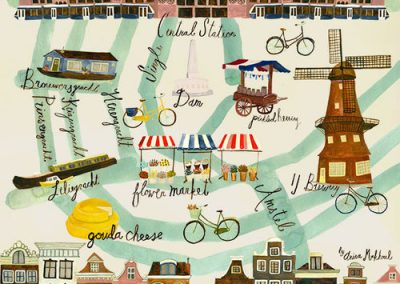Amsterdam Map by Anisa Makhoul